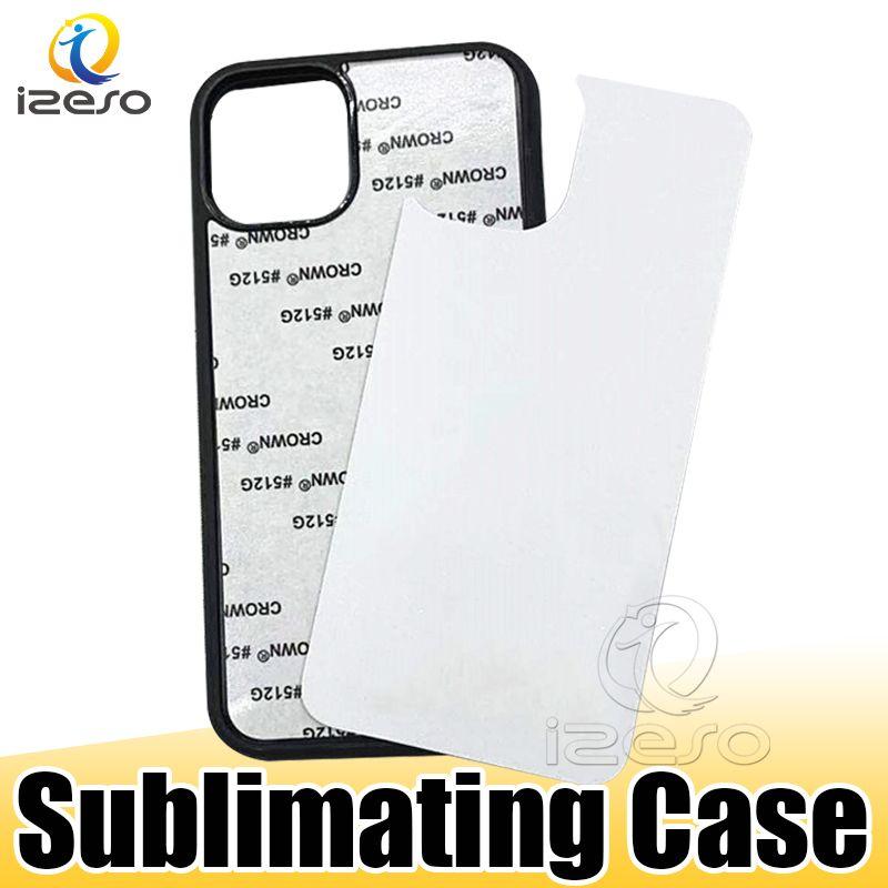 2D Sublimation plastique dur bricolage Designer Phone Case PC sublimant Blank couverture pour iPhone 12 11 XS MAX Samsung Note20 A21 izeso
