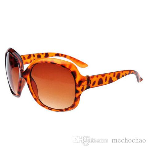 New Hot Leopard Sunglasses Trendy Brand Oversized Fashion Glasses High Quality UV Protection Gradient Eyewear Designer Popular Sunglasses