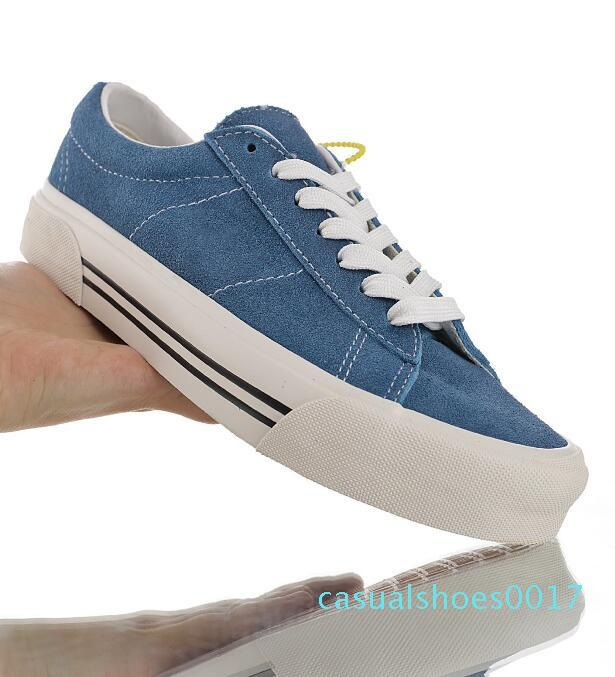 Nova 2020 camurça dos homens de couro mulheres clássico Sid sapatilhas do desenhista do bordado Anaheim Fábrica Lace up sapatos amantes vulcanizados Plimsolls 35-44