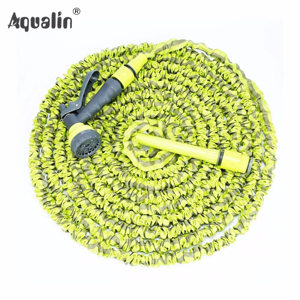 High Quality 25FT-75FT Garden Expandable Hose Set Water Hose with 7 Pattern Plastic Spray Gun to Watering #26201
