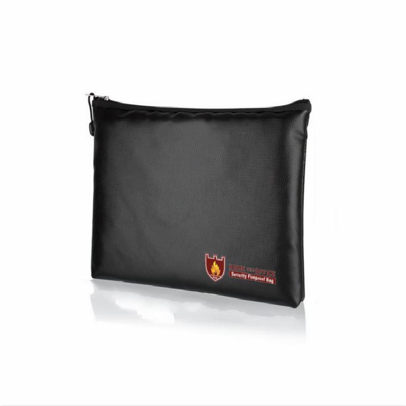 bolso de múltiples funciones de la cartera del bolso de seguridad archivo secreto negro de los hombres de fuego a prueba de agua