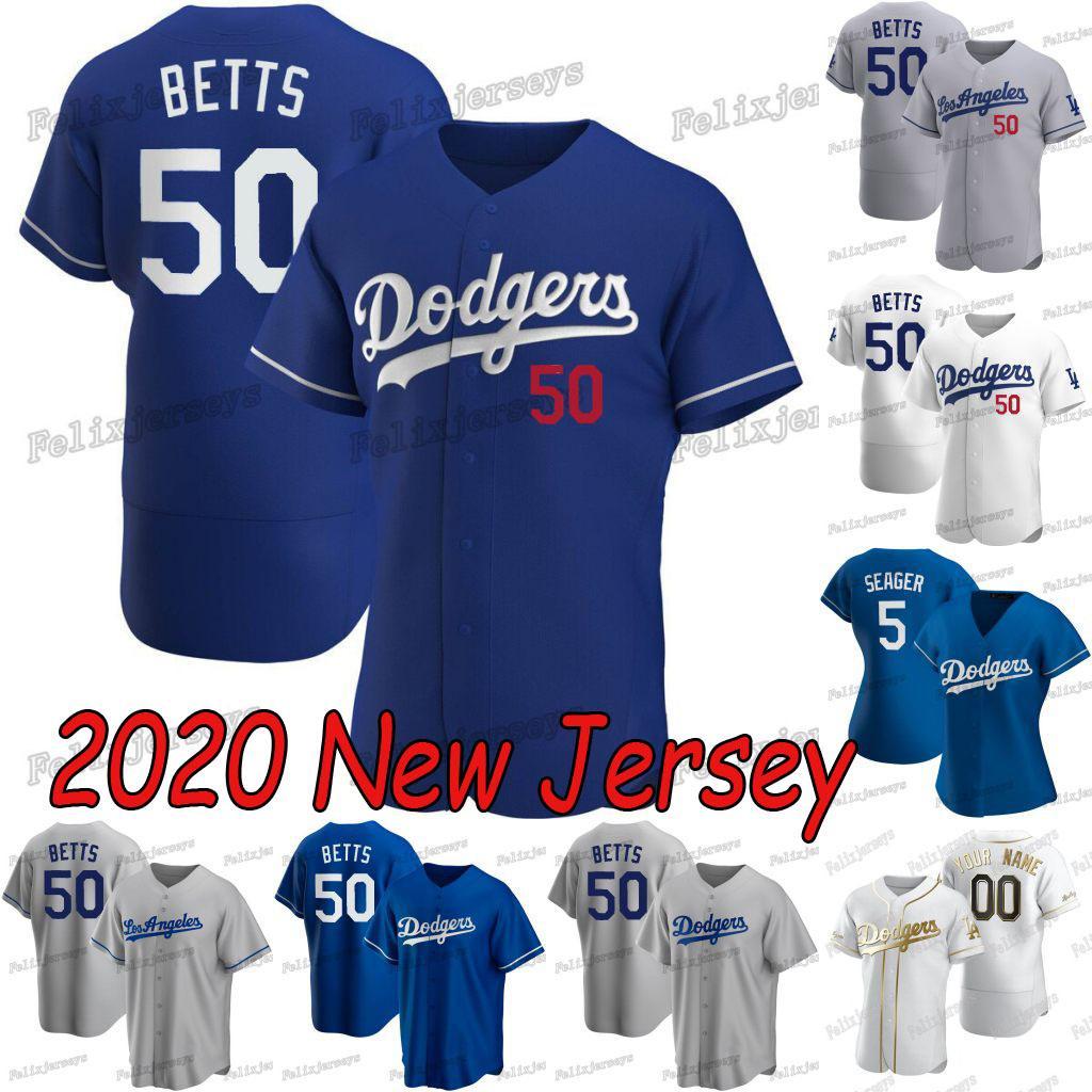 50 Mookie Betts Jersey 2020 Nuevo Precio David Corey Seager Justin Turner Enrique Hernández Cody Bellinger Chris Taylor Walker Buehler Jersey
