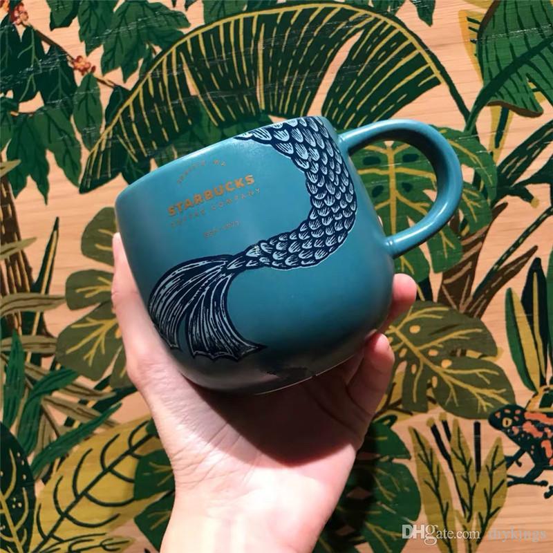 2019 Starbuck Mug acqua mare sirena tazza di caffè oro Lettera Seattle, WA latte tazza della tazza regalo
