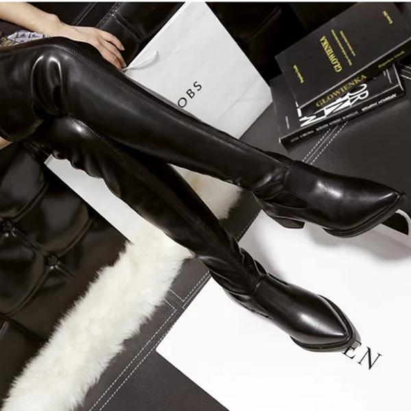 Mulheres Toe sobre o joelho botas Senhoras Outono inverno botas De Salto Alto Sexy coxa alta botas mujer