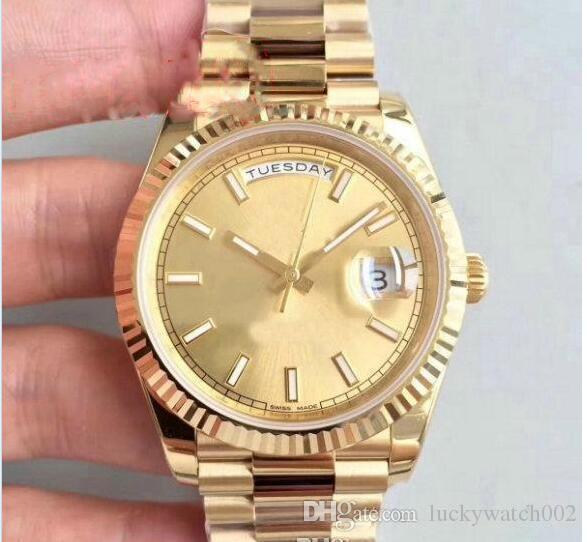 2019 Hot slae DayDate 41 milímetros Mecânica Crown Assista Ouro Homens de alta qualidade Presidente Sapphire Original Fecho Relógios Roma Dial Relógios de pulso