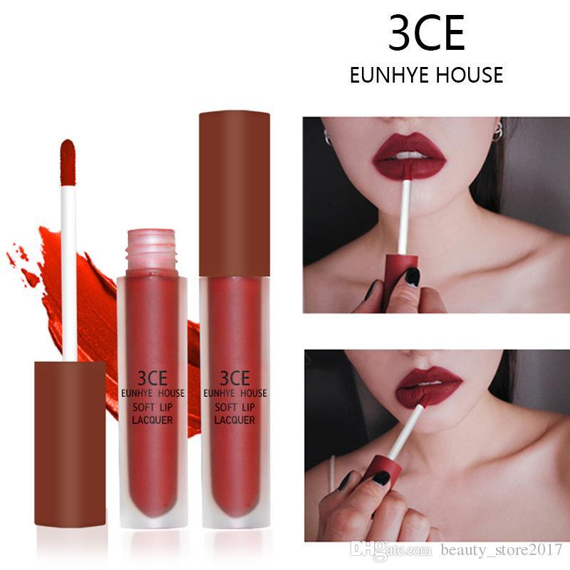 3CE Eunhye House Maquillaje Velvet Mate Lápiz Labial Brillo de Labios Brillo Mate Larga duración Impermeable Mate Líquido Lápiz Labial Cosmético