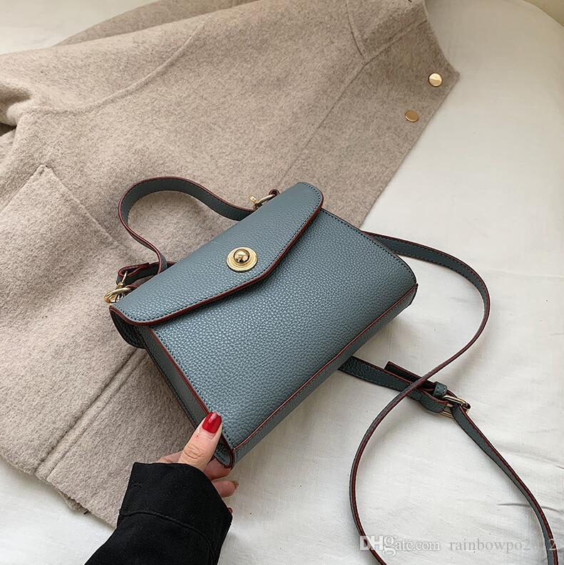 Factory wholesale women handbag sweet solid color leather shoulder bag simple Joker fashion handbag elegant leather Messenger bag