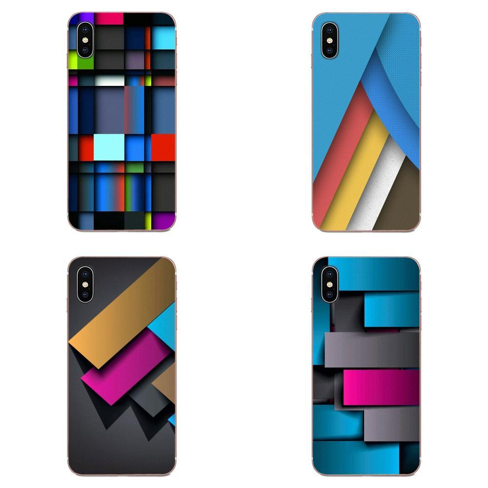 Custom For Xiaomi Mi3 Mi4 Mi4C Mi4i Mi5 Mi 5S 5X 6 6X 8 SE Pro Lite A1 Max Mix 2 Note 3 4 Mobile Phone Case Cover Colorful Geometry