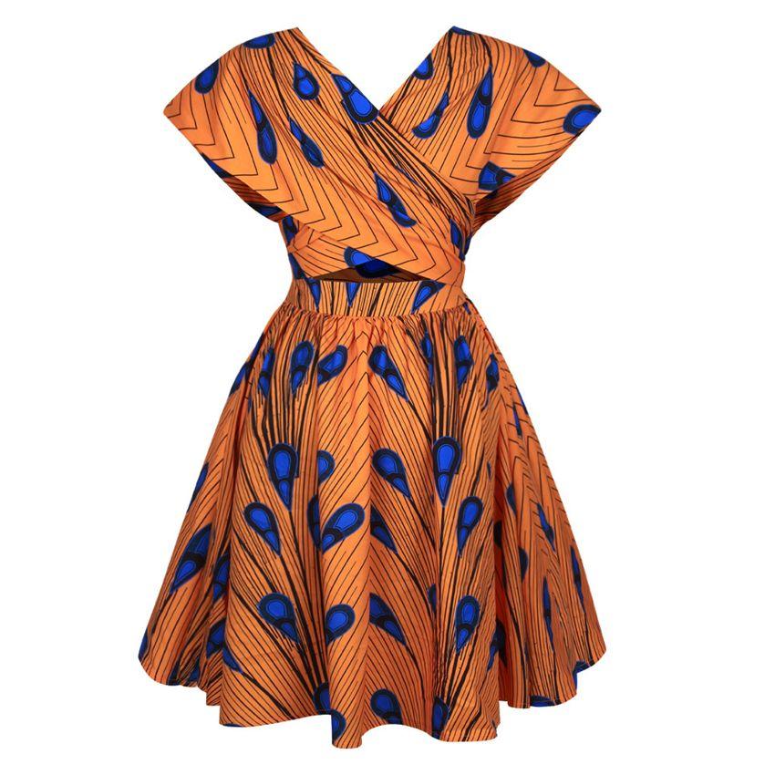 Kadınlara 2020 Yeni dashiki Baskı Yaz Partisi Elbise Bazin Robe Africaine Ankara Moda Giyim Fonksiyonlu T200630 Afrika Elbiseler