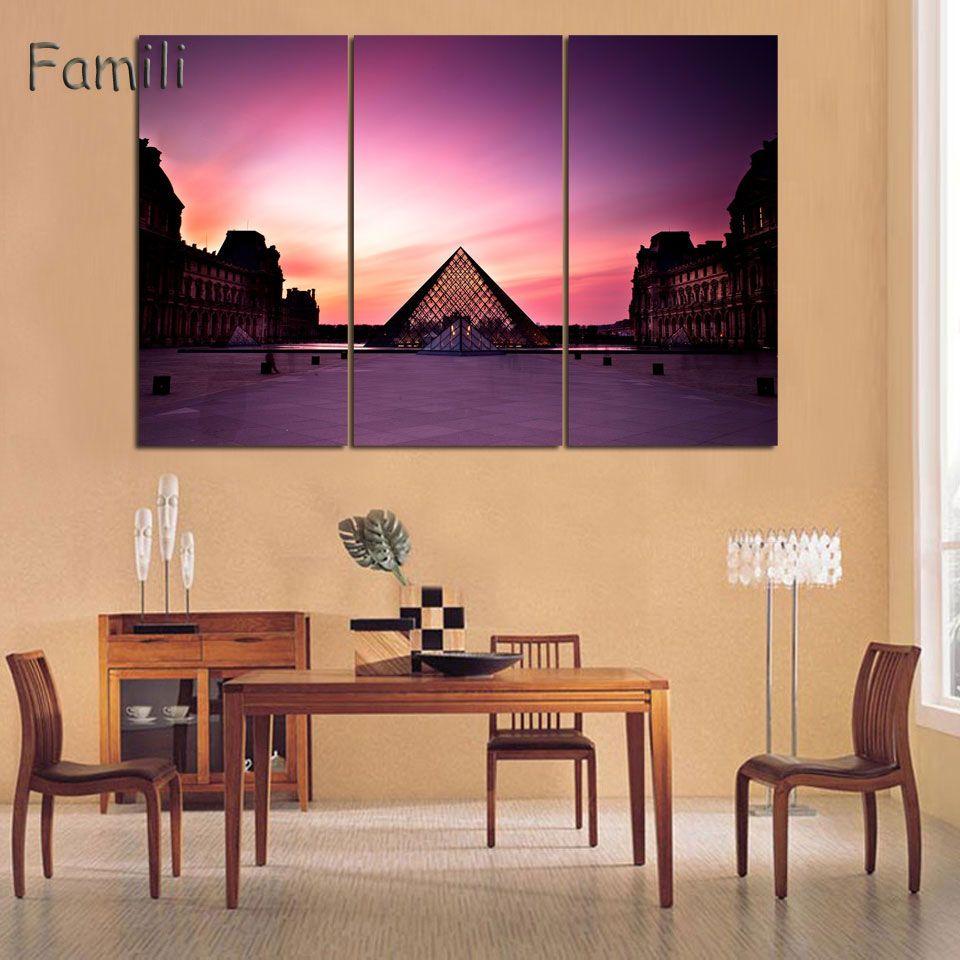 3 pannello moderno stampato spazio universo dipinti di paesaggio su tela immagine Cuadros terra pittura per soggiorno senza cornice