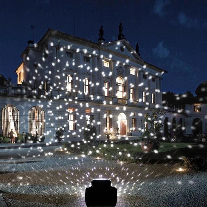 크리스마스 파티 장식에 대 한 눈이 야외 정원 레이저 프로젝터 레이저 프로젝터 램프 야외 강설량 레이저 빛 이동