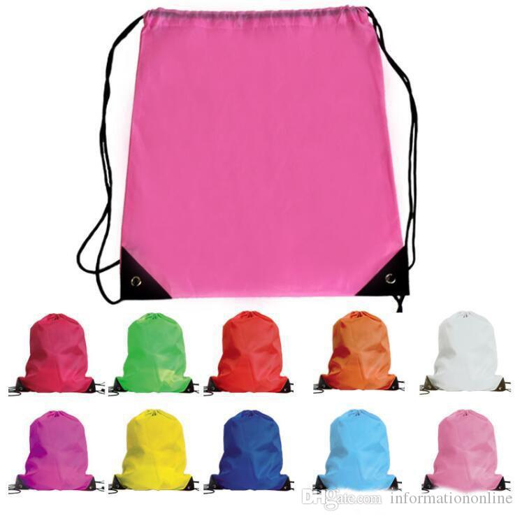 Backpack Dance School Book,Tote Bag PLAIN PINK Drawstring Bag  COLOURS P.E