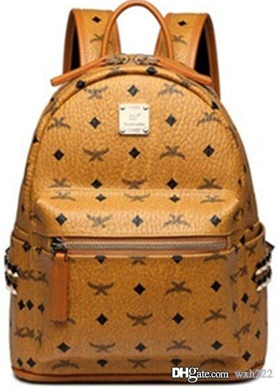 Mulheres Marca Punk Rivet Backpack 2020 nova escola homens saco estudante designer de alta qualidade mochilas ombro dupla mochila mochila