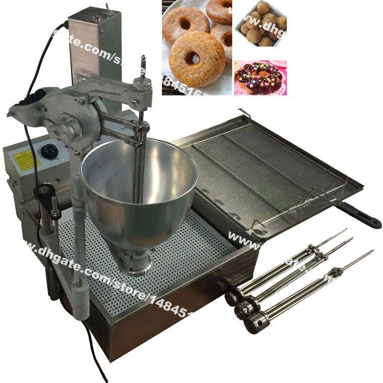 Envío gratuito 3-Mold 7.5L Heavy Duty 110v 220v eléctrico automático dona bola Donuts máquina de los freidora