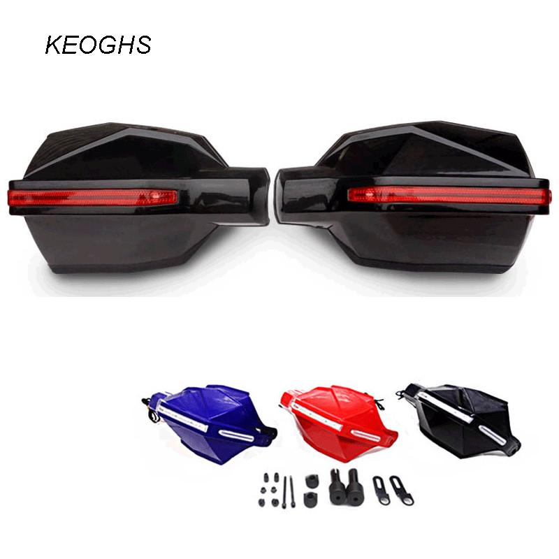 parabrezza protezione LED protezione paramano moto motocross KCSZHXGS protezione motociclo mano handguard universale