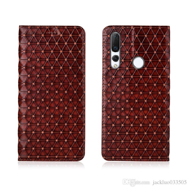 Funda de cuero genuino para el caso magnético Huawei Nova 4e cubierta para Huawei Nova 4e cubierta del tirón del cuero del caso con ranura para tarjetas
