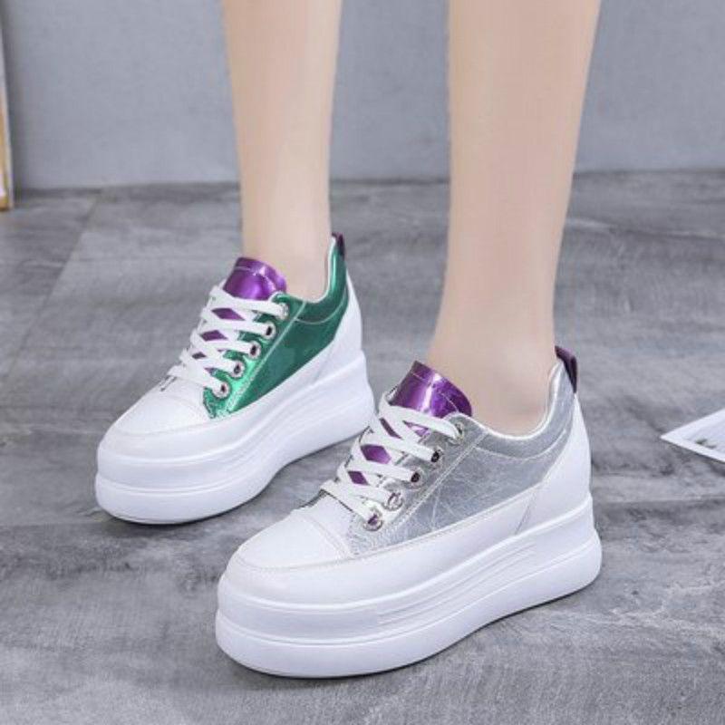 fondo spesso aumentata Brown shoes femminile 2019 nuova versione coreana di studenti temperamento Harajuku ulzzang marea causale scarpe scarpe di moda