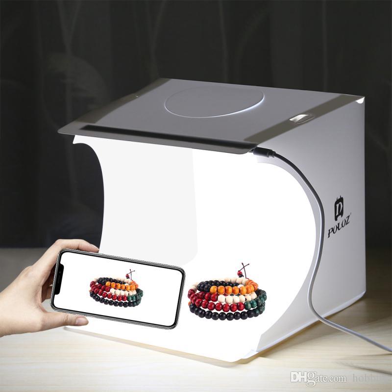 مصغرة غرفة الاستوديو مربع أدى ضوء التصوير خلفية الإضاءة خيمة التصوير خلفية مكعب مربع صورة ستوديو شحن مجاني