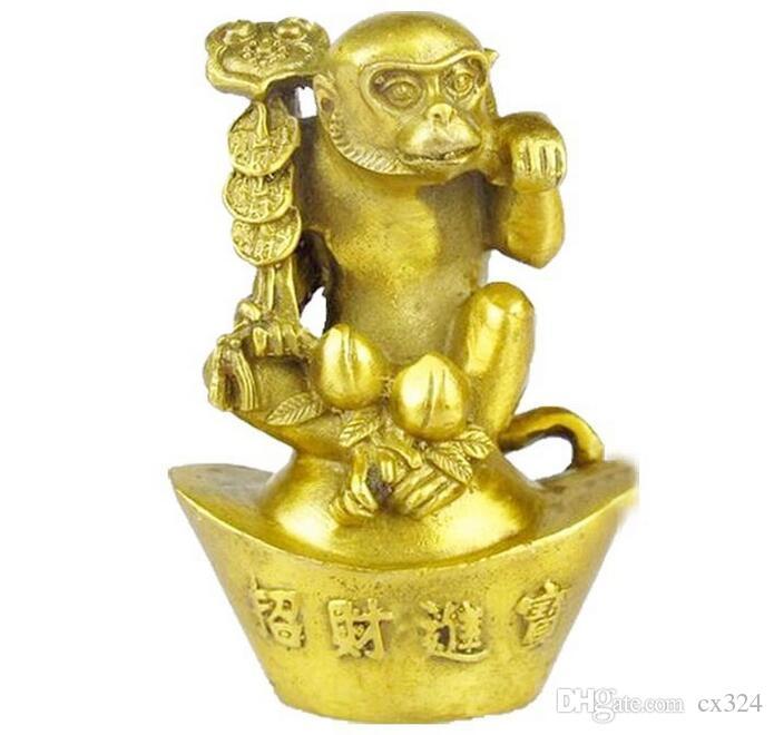 Polished pure copper Feng Shui bronze ornaments Seiko Golden Monkey Tofu