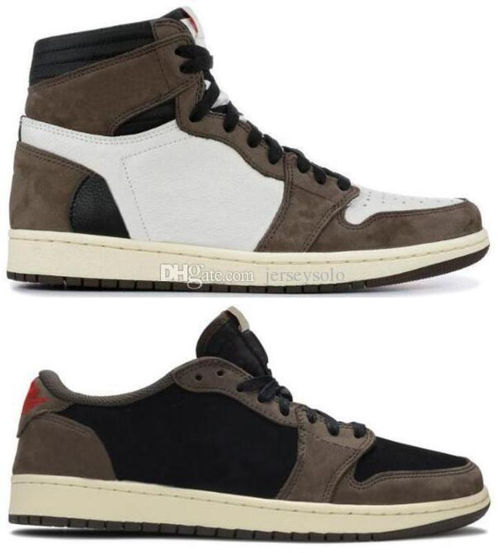 Avec Box Suede meilleure qualité OG Travis Scotts Cactus Jack noir Mocha TS SP Basketball Chaussures Homme Femme Low Sneakers