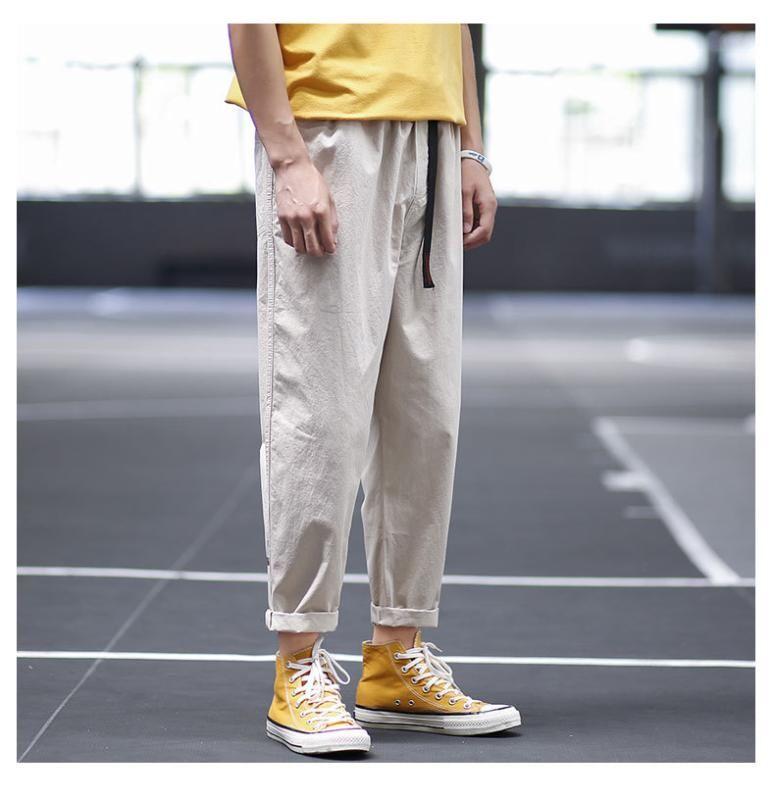 2020 Pantalon super feu de printemps et d'automne Pantalons Hommes Net Rouge Neuf Bundles Chaussures minces en vrac Casual