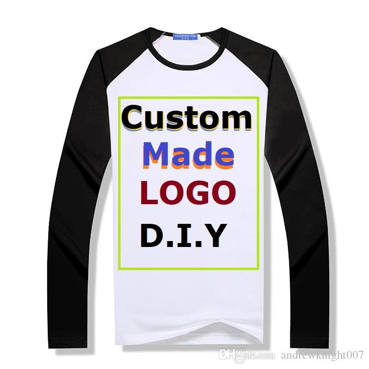 DIY Custom Made Kazak Uzun Kollu Hoodies T Shirt Erkekler Kadınlar için Tişörtü Tasarım Kendi Logo Polar