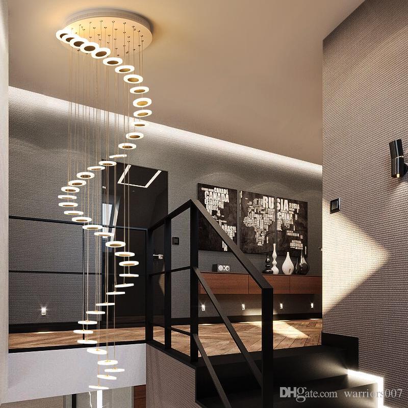 Moderne LED-Kronleuchter Wohnzimmer Pendelleuchte Schlafzimmer Leuchten Treppe Pendelleuchten Restaurant Hängeleuchte,