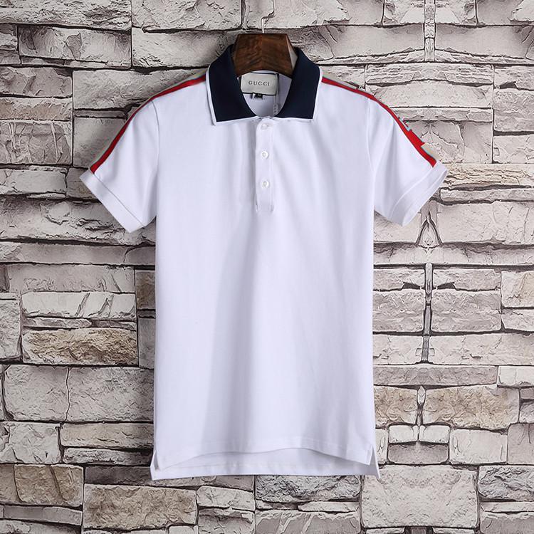 Новая мода полоса классический бренд поло мужчины вскользь тенниска вышитой Medusa хлопок поло рубашка Высокий воротник улица люкс Поло рубашка