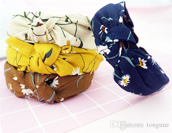 Nouveau noeud noeud croix vogue cerceau cheveux design petit cerceau tête pure et fraîche est les cheveux d'art en tissu doux AGIT le rôle fabricant ofing vend dir