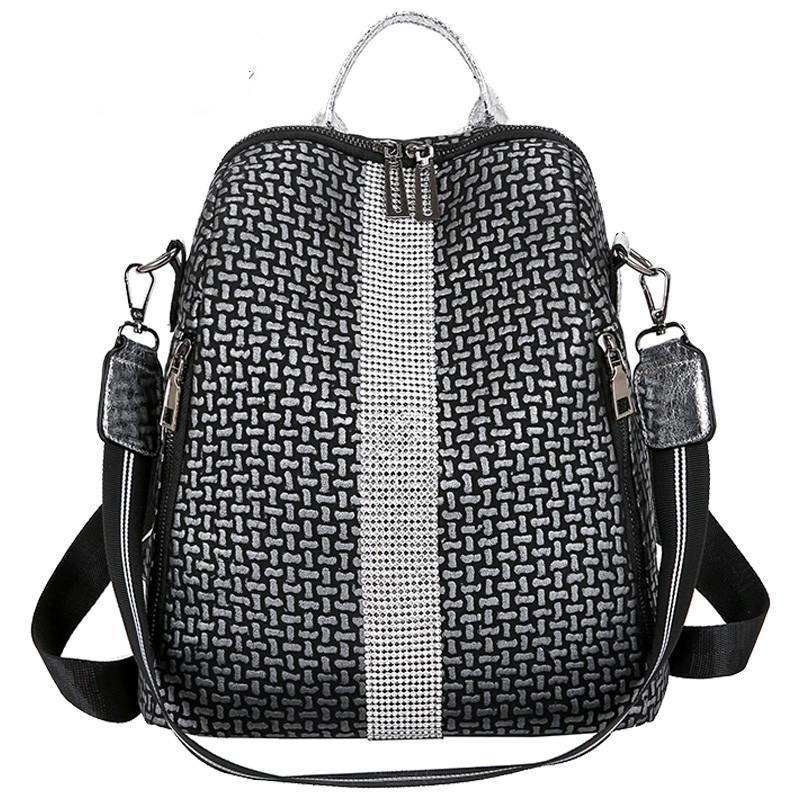 Многофункциональные женщины Рюкзаки сумки плеча Мода лето высокого качества Рюкзак Кожа Свет Леди Большая емкость мешка школы