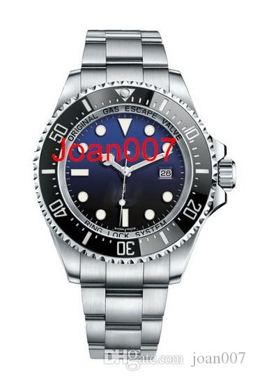 Mens Watch Deep Ceramic Bezel SEA-Dweller Stainless Steel Glide Lock Clasp Automatic Mechanical mens Watches 44mm