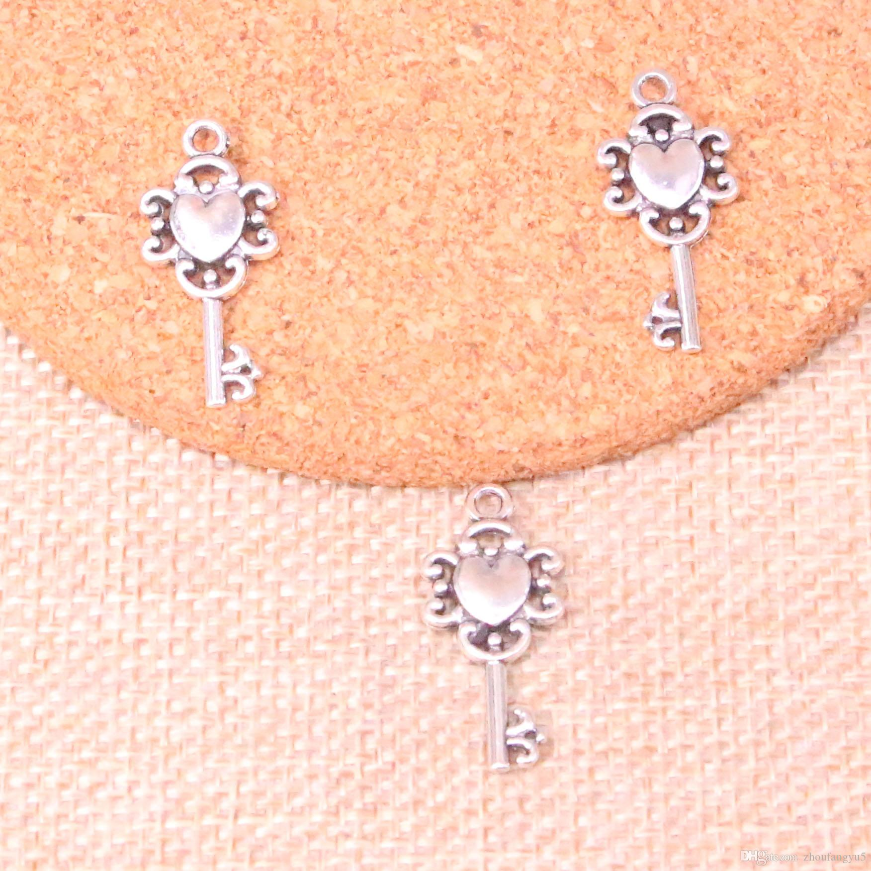 92pcs Charms retro treasure chest key 25*12mm Antique Making pendant fit,Vintage Tibetan Silver,DIY Handmade Jewelry