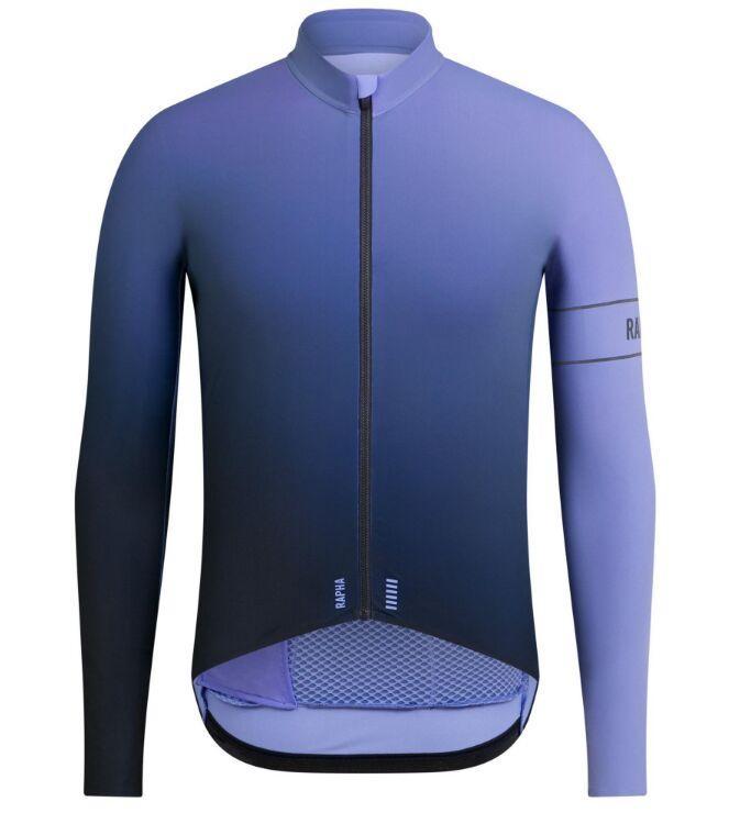 2020 년 봄 최고 품질 PRO TEAM AERO 짙은 녹색 긴 소매 자전거 유니폼 경주 꽉 맞는 자전거 의류 멋진 기어