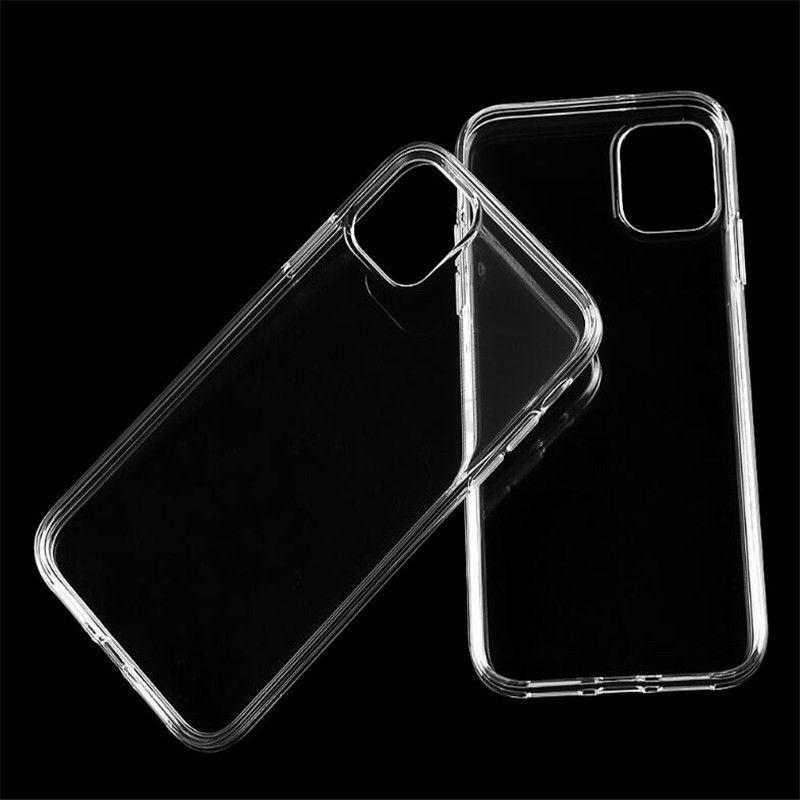Yumuşak TPU Silikon durumda Temizle Şeffaf Kapak Kılıf iPhone 11 Pro Max XS XR X 8 7 6 6S Artı Koruma