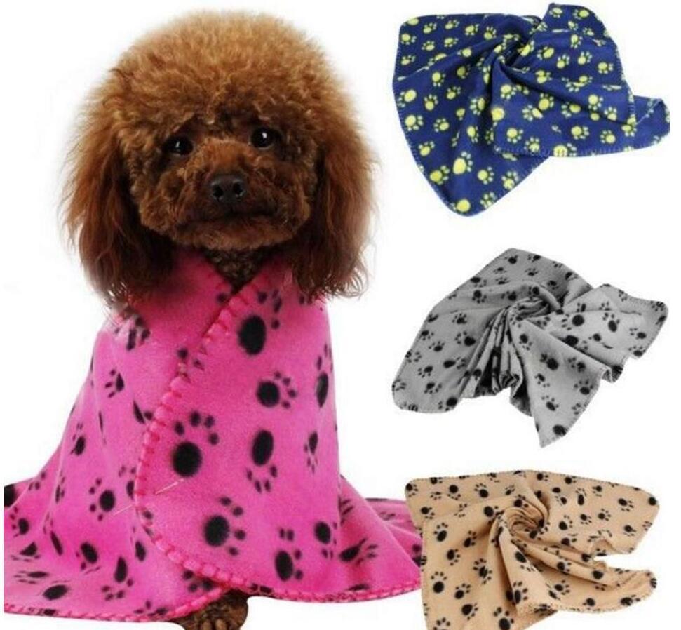 الحيوانات الأليفة غطاء غروف باو الصغيرة طباعة غطاء الحيوانات الأليفة القط الكلب الصوف لينة الصوف القطة الكلب جرو الصوف غطاء سرير دافئ حصيرة بيوت الكلاب LSK127