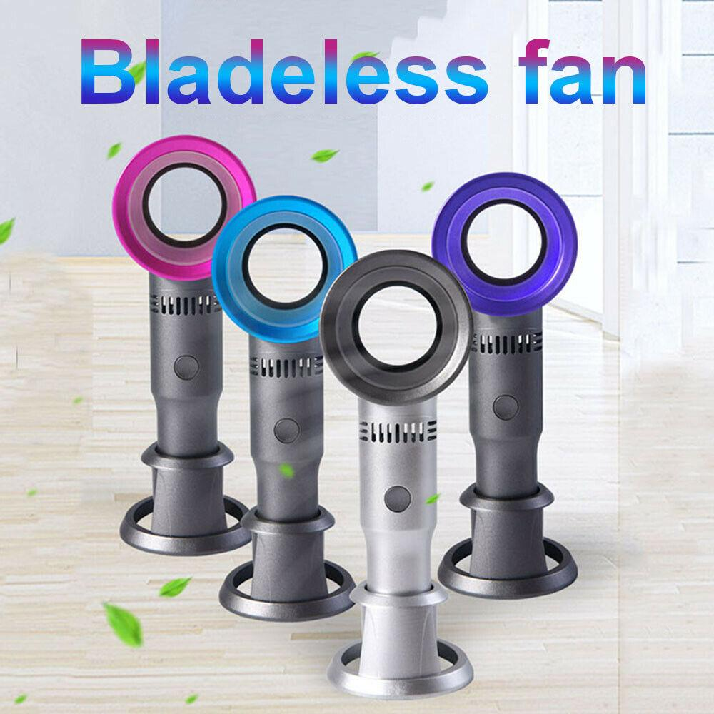 360 Degrees Portable Bladeless Hand Held Cooler Mini USB No Leaf Handy Fan Acces
