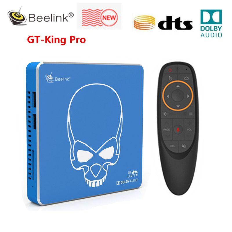 Beelink GT-KINK PRO HI-FI صندوق تلفزيون صوت ضياع مع DOLBY AUDIO DTS الاستماع Amlogic S922x-H Android 9.0 4 جيجابايت 64 جيجابايت WIFI 6 تعيين مربع أعلى