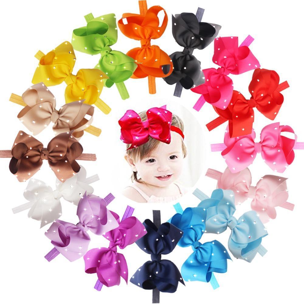 6 pouces Grands grands arcs d'arcs avec strass scintillant Coiffure Fashion Nouveau Bandeaux à cheveux élastiques doux Accessoires de cheveux pour bébés filles