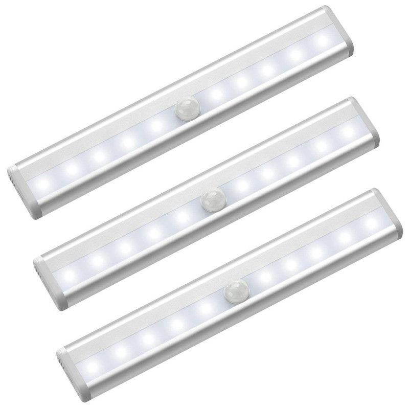 LED Motion Sensor Cupboard Wardrobe Bed lamp Under Cabinet Night light US Seller