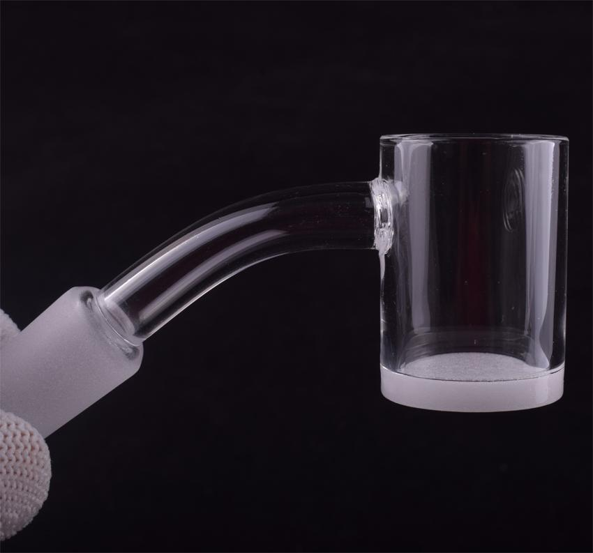 100% Real Banger 4mm thick opaque bottom Quartz Banger gavel Domeless Nail 10mm 14mm 18mm male female frosted joint 90 45 Degrees