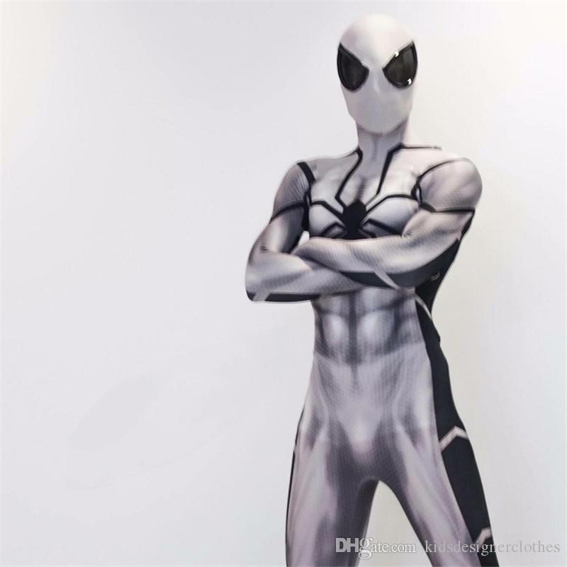 Halloween Spiderman Cosplay Costumes à manches longues Skinny hommes en tissu Halloween super-héros cosplay costume