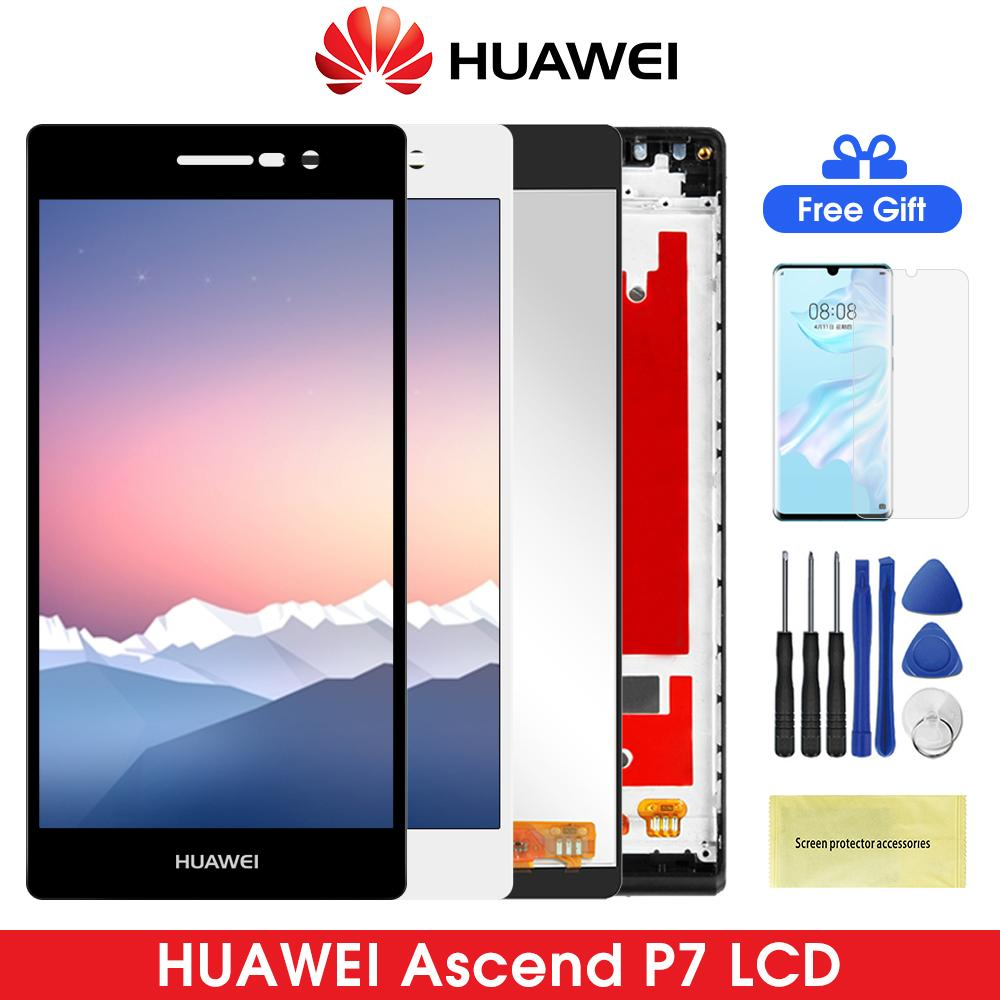 5.0 Inch P7 Lcd Display For Huawei Ascend LCD With Touch Screen Digitizer Replacement