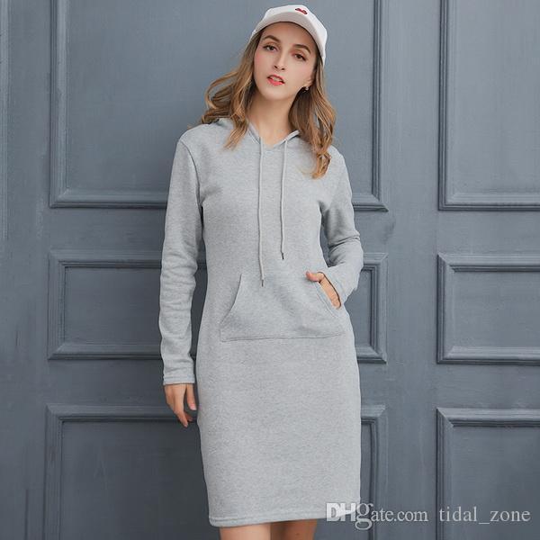 2019 новая мода Женская мода Европейский и американский новая зима чистый цветной длинная шляпа гвардии толстовки свитер