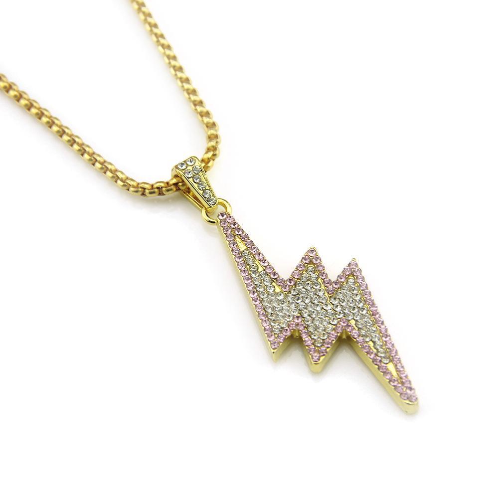 Designer Collier pour hommes et femmes or collier plaqué Hiphop BRAND Charm Chain Hip Hop Bijoux Pendentif diamant Collier