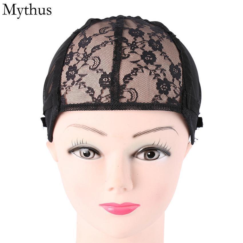 1 pezzi nero di colore elastico pizzo protezione della parrucca, elastico Hairnet Cap, registrabile della protezione parrucca Strap Per Fare parrucca