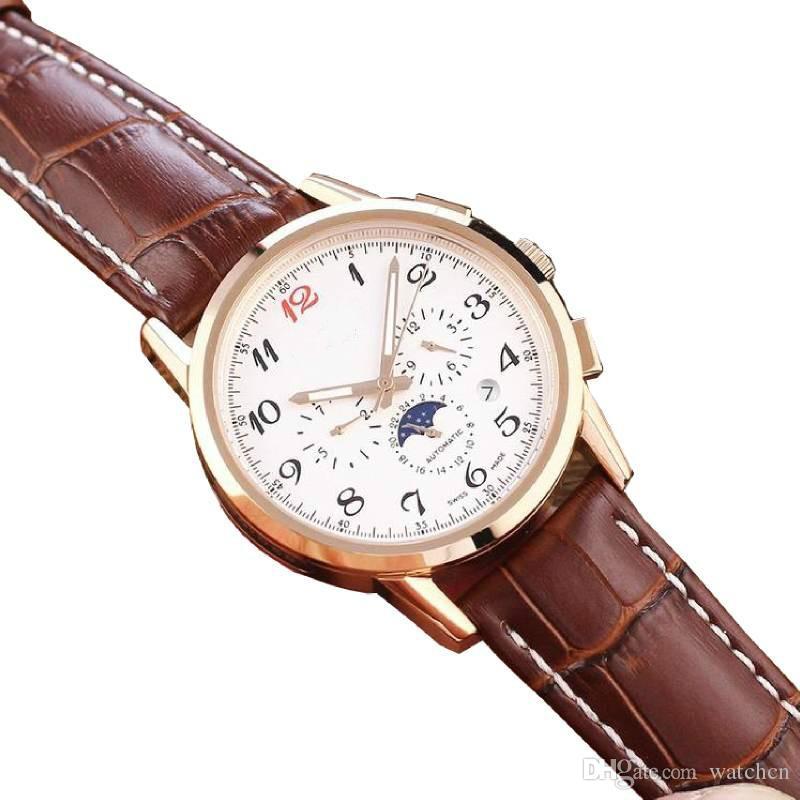 Longine lüks İzle erkekler saatler hareketi izle tasarımcı saatler 40mm 3 aramalar otomatik İzle daydate toptan