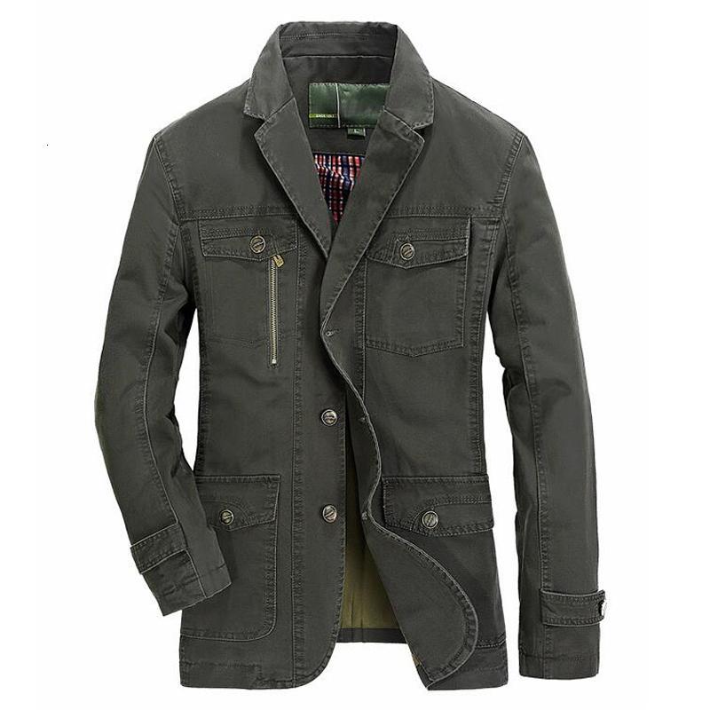 Мужчины весной хлопок случайной куртки мужской осени устаревать военный костюм пальто мужской casaco плюс размера Мужчина для 4xl 5xl блейзер jacketsMX190926