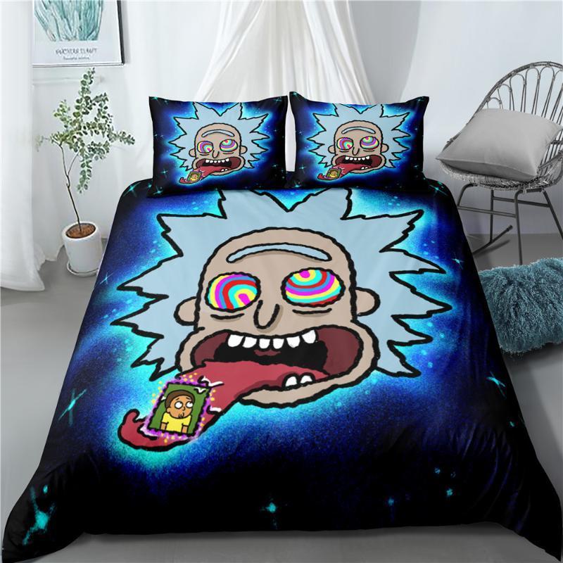 Space Movie 3Pcs/Set Bedding Set Sheet Children Room Bed Sheet Pillow case Bedding Set Queen