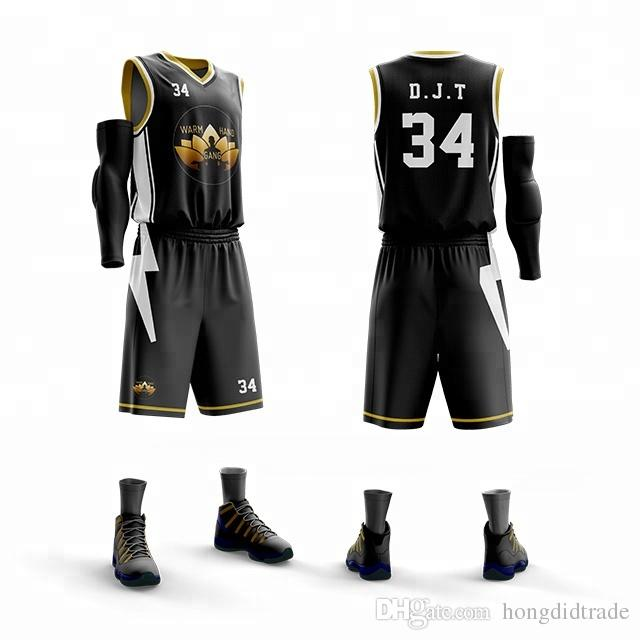 Новых Мужчины Открытого спорт Баскетбол Джерси наборы Обмундирование наборы Customized взрослой Спортивная одежда дышащей баскетбольных шорт наборы