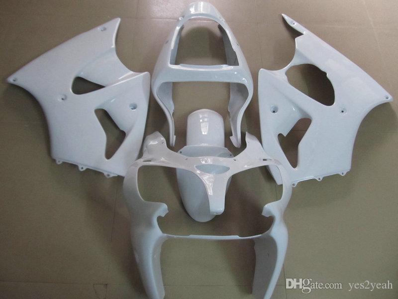 Kit de cuerpo de carenado de inyección para KAWASAKI Ninja 2000 2001 2002 ZX-6R ZX6R 636 ZX 6R 6R 00 01 02 juego de carenados blancos